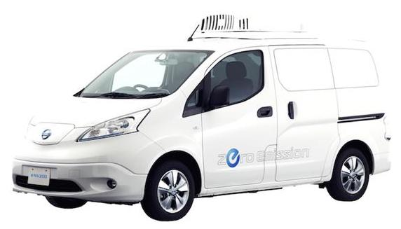 un utilitaire lectrique r frig r le concept nissan e nv200 fridge. Black Bedroom Furniture Sets. Home Design Ideas